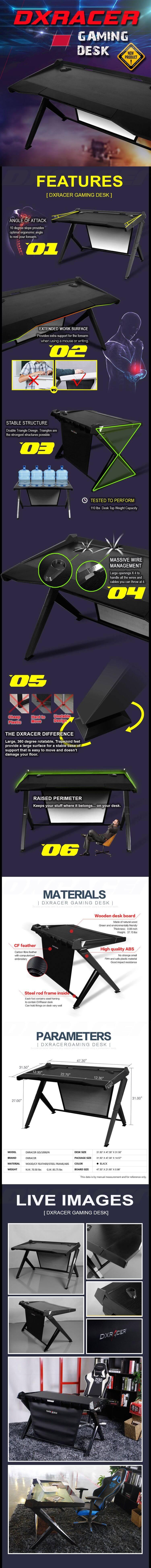 DXRacer Gaming Desk evolved for the ultimate gamer